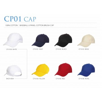 CP01 6 Panel Cotton Brush Cap with Brass Buckle Closure