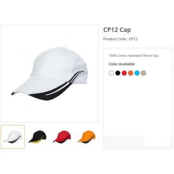 CP12 Series Cotton 6 Panel Cap