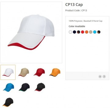 CP13 Series Polyester 6 Panel Quick Dry Cap