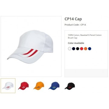 CP14 Series Cotton 6 Panel Cap