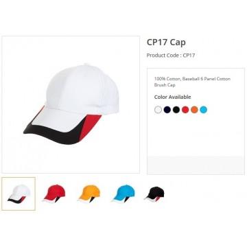 CP17 Series Cotton Brush 6 Panel Cap