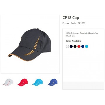 CP18 Series Polyester 6 Panel Quick Dry Cap