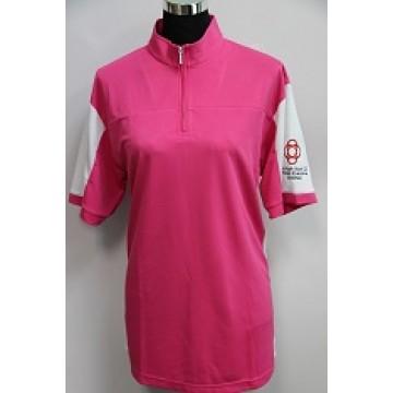 Customized Mock Neck Polo T-shirt