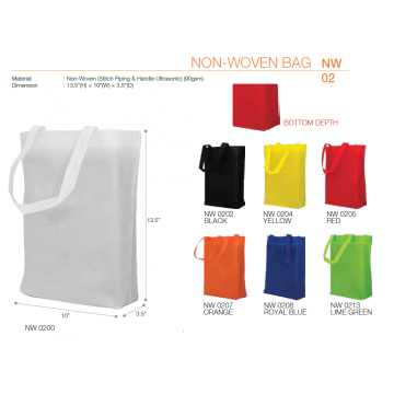 NW02xx A4 Non Woven Bag 90GSM - Ultrasonic Finished