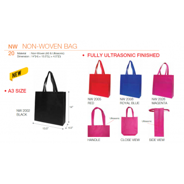 NW20xx Non Woven Bag - A3 - Ultrasonic Finished