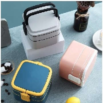 LB-34 Double Layer Lunch Box with Spoon
