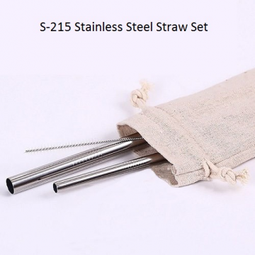 S-215 Stainless Steel Straw Set