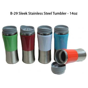 B-29 Sleek Stainless Steel Tumbler - 14oz