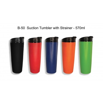 B-50 Suction Tumbler with Strainer - 570ml