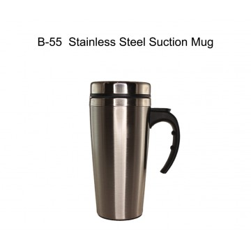 B-55 Stainless Steel Suction Mug 400ml