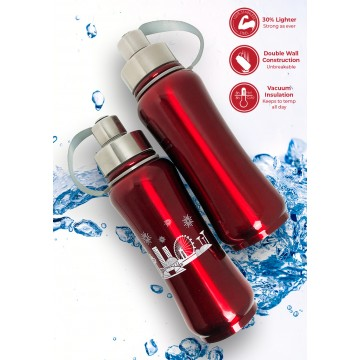 Red Thermal Bottle 600ml