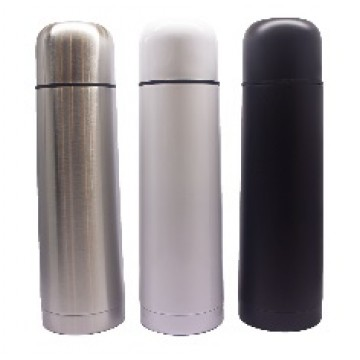 VF-108 Stainless Steel Double Wall Vacuum Flask with PU Pouch - 500ml