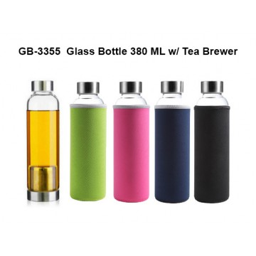 GB-3355 Glass Bottle - 380ml with Tea Brewer