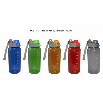 PCB-752 Tritan Bottle with Strainer - 750ml