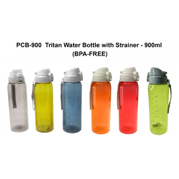 PCB-900 Tritan Water Bottle with Strainer - 900ml (BPA Free)