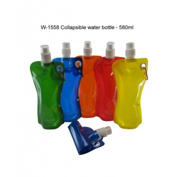 W-1558 Collapsible Water Bottle - 580ml