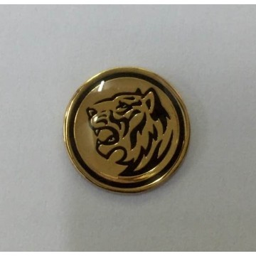 Round Collar Pin etching with color filled