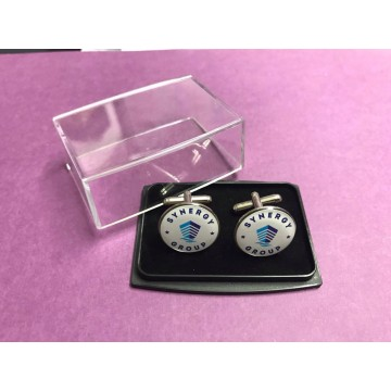 Cufflinks with Plastic Box
