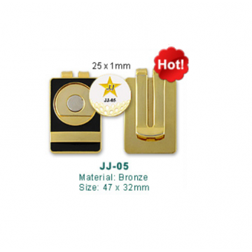JJ-05 Golf Money Clip with Ball Marker
