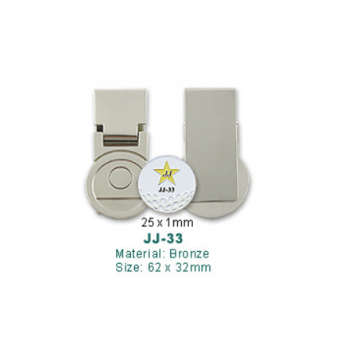 JJ-33 Golf Money Clip with Ball Marker