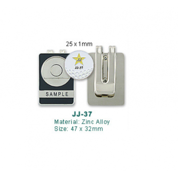 JJ-37 Golf Money Clip with Ball Marker