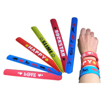 Slap bands with printing