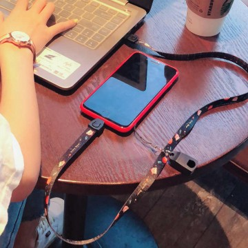 Multifunctional 2 in 1 Cell Phone Charging Cable Lanyards