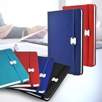 Jotter04 A5 Hard Cover Notebook with Metal Plate