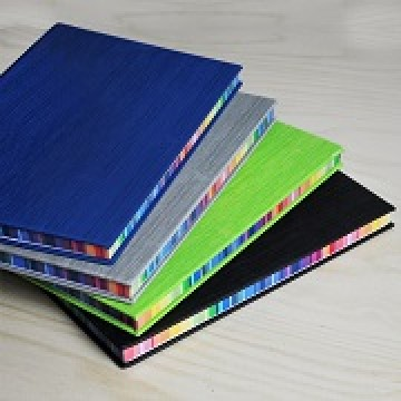 Jotter05 A5 Hard Cover Notebook with Rainbow side