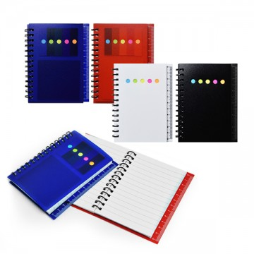 SS16011 Pocket size notebook with post it pad