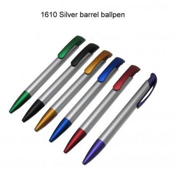 1610 Silver Barrel Ballpen