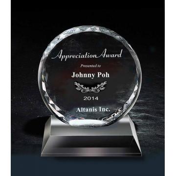 CA1 Round Cut Crystal Award