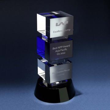 CA11 3-Tier Regal Crystal Award