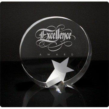 SC11 Round Crystal Star Crystal Award