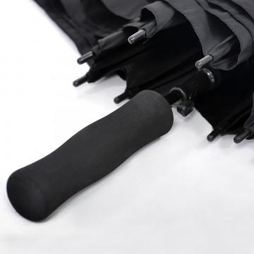 XL598PL Full Black Straight Handle Umbrella